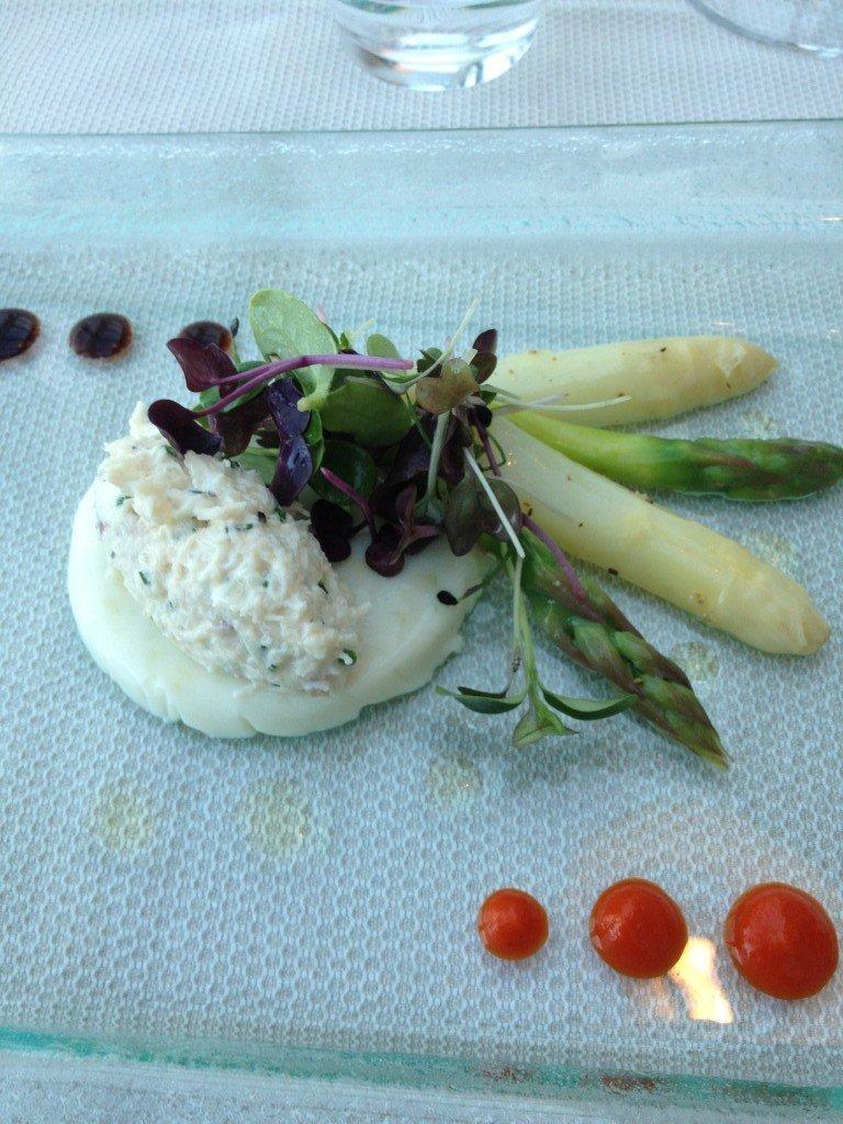 Pana cotta d'asperges vertes et blanches