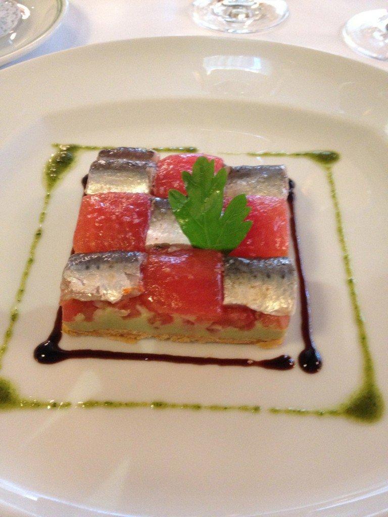 Le damier de sardines marinées