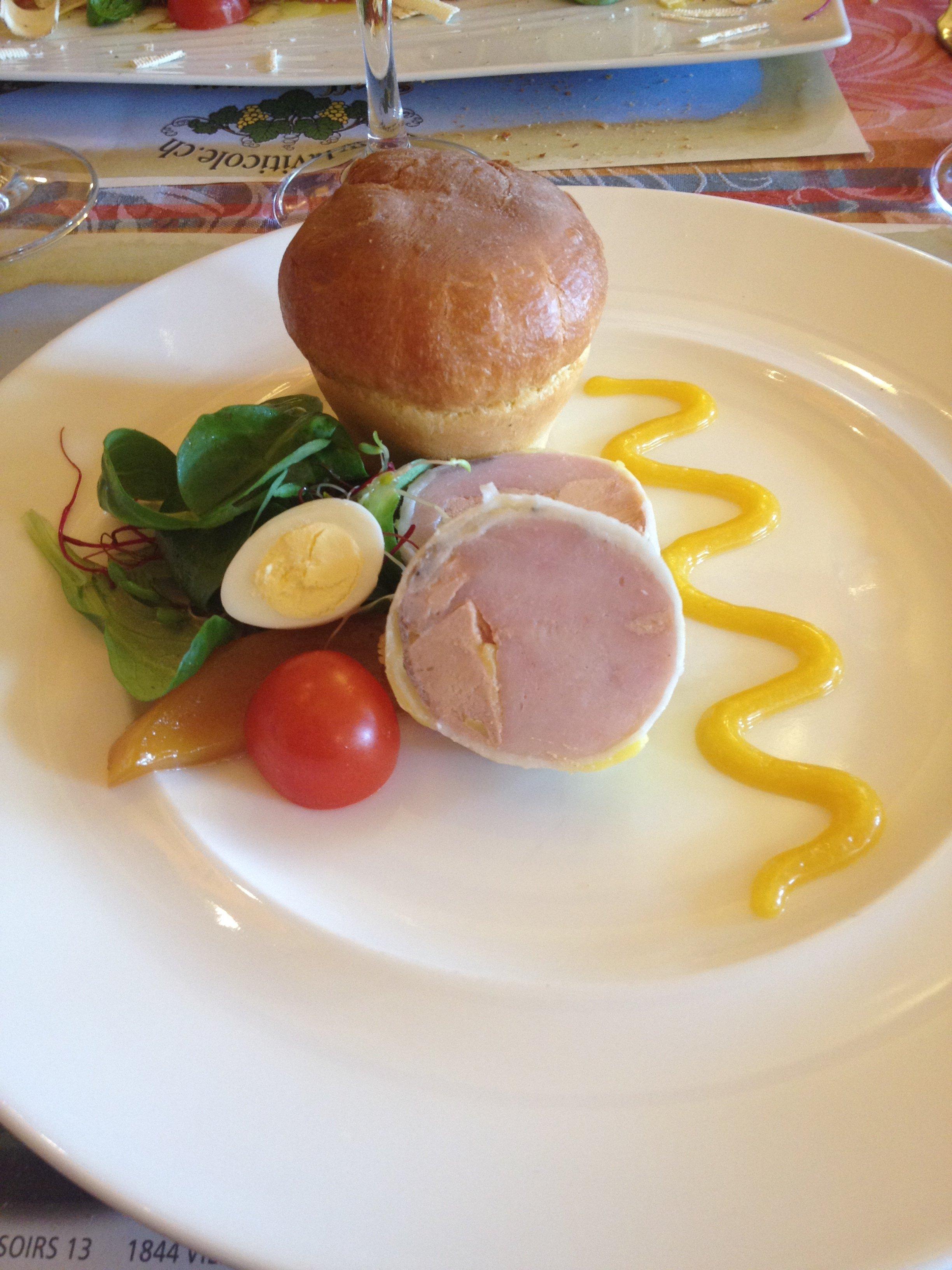Le fondant de foie gras et volaille et sa très bonne brioche