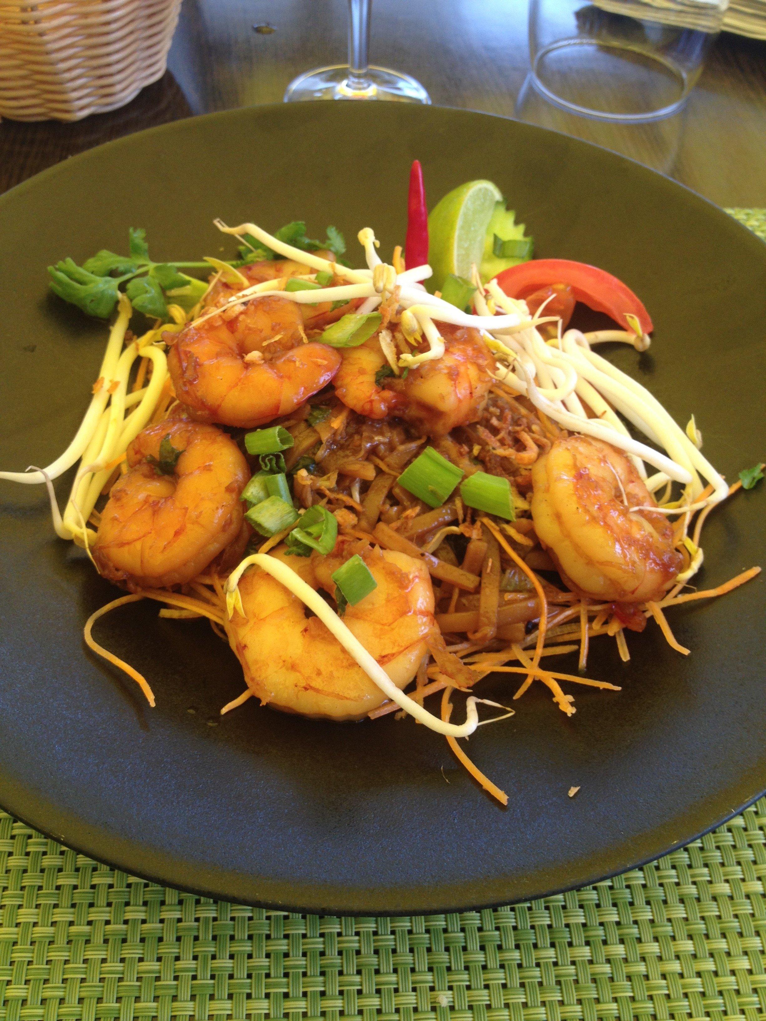 Nouilles thaï aux crevettes